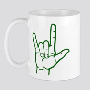 Green I Love You Mug